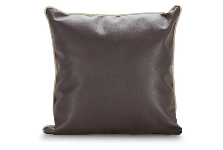 Robin Dark Brown Bonded Ltr Accent Pillow