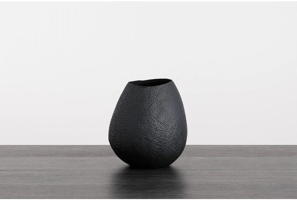 Fawn Black Vase