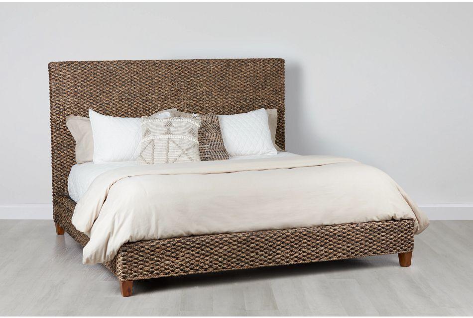 Bali Mid Tone Woven Platform Bed