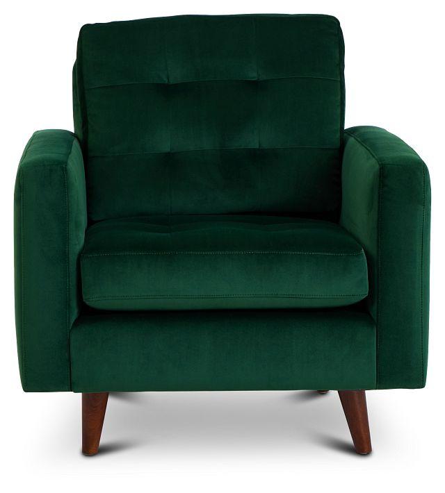 Joya Green Velvet Chair (3)