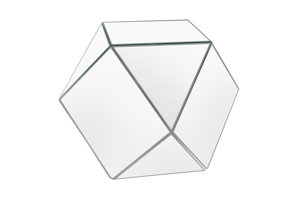 Geo Silver Large Accent Table