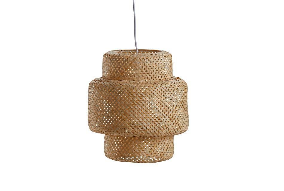 Woven Beige Bamboo Pendant