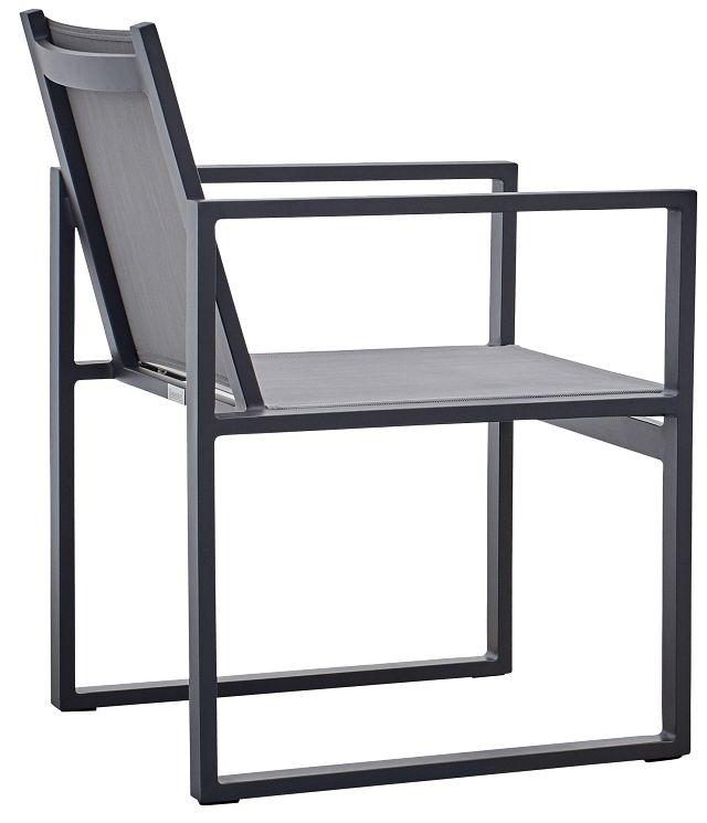 Linear Dark Gray Sling Arm Chair (3)