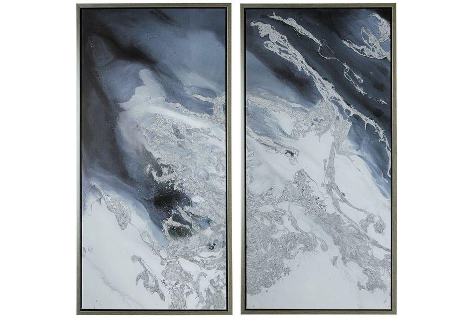 Quartz Gray Set Of 2 Framed Wall Art