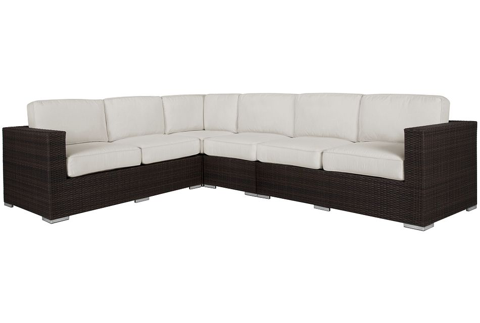 Fina White Large Two-Arm Sectional,  (0)