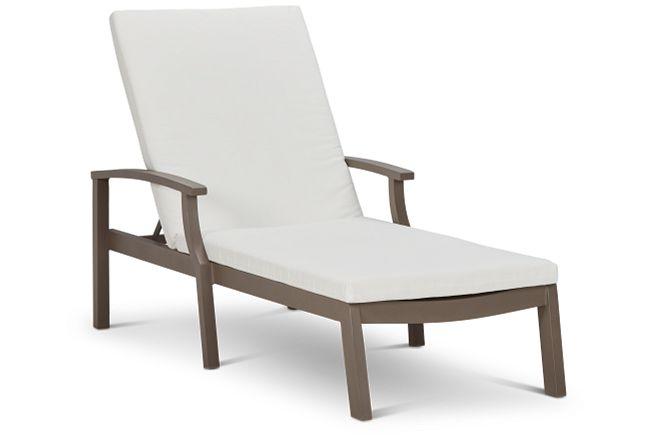 Raleigh White Aluminum Cushioned Chaise