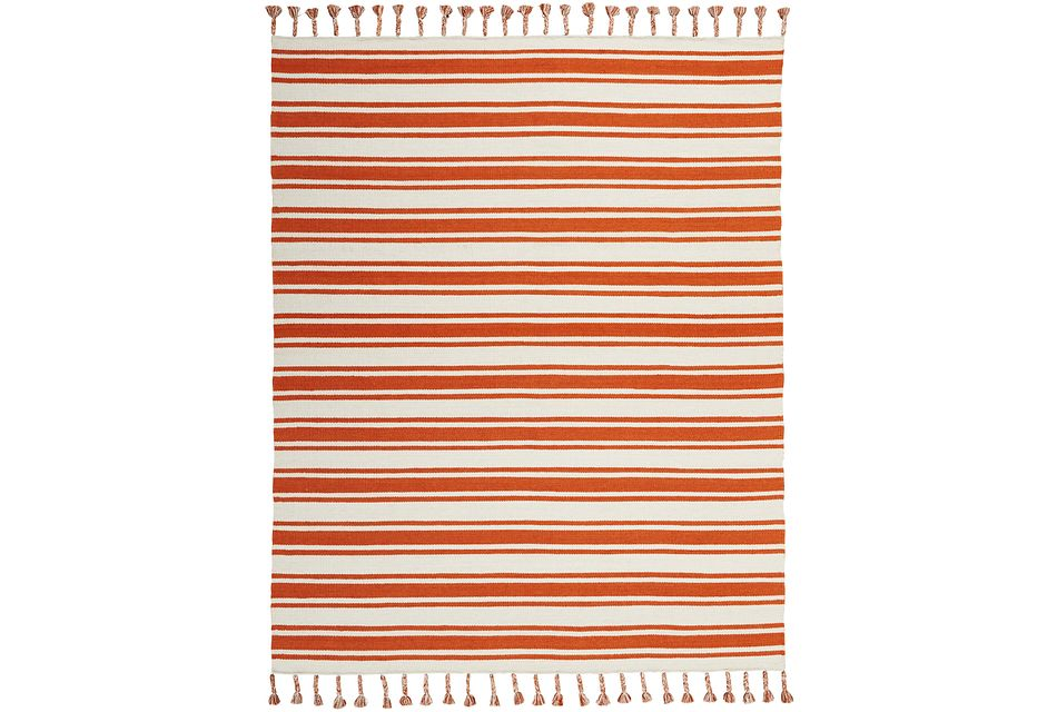Rio Vista Orange 5x8 Area Rug
