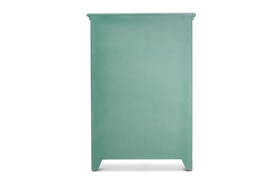Alexis Teal Tall Two-door Cabinet