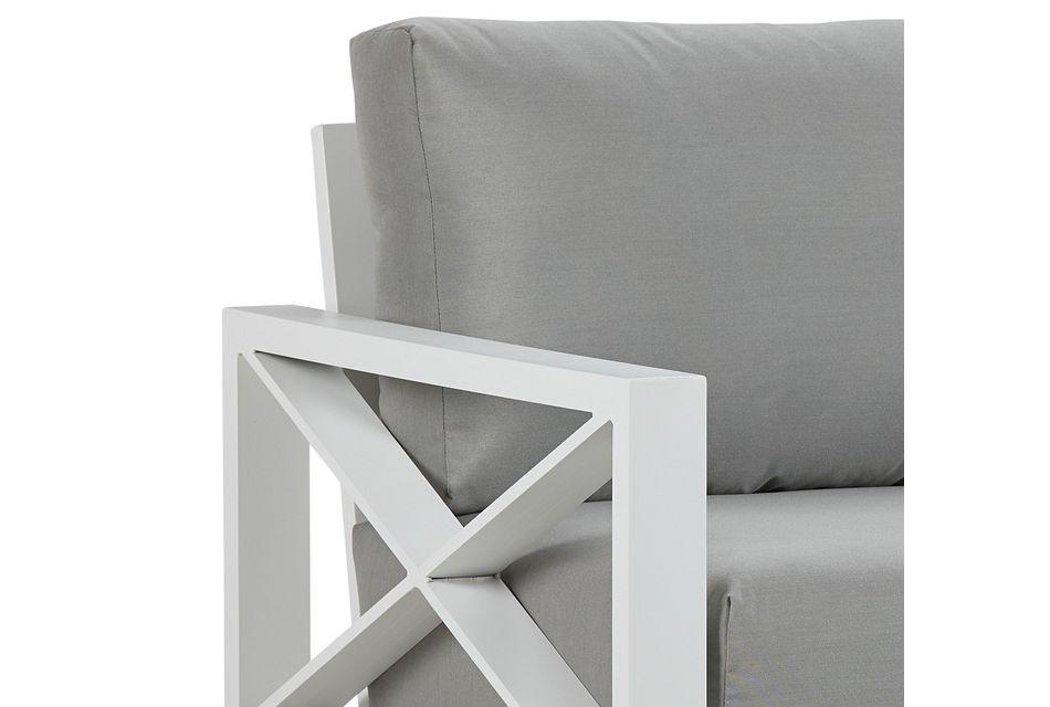 Linear White Dark Gray Rocking Chair