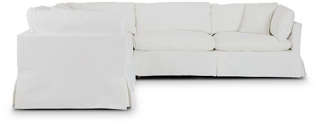 Raegan White Fabric Small Two-arm Sectional (2)