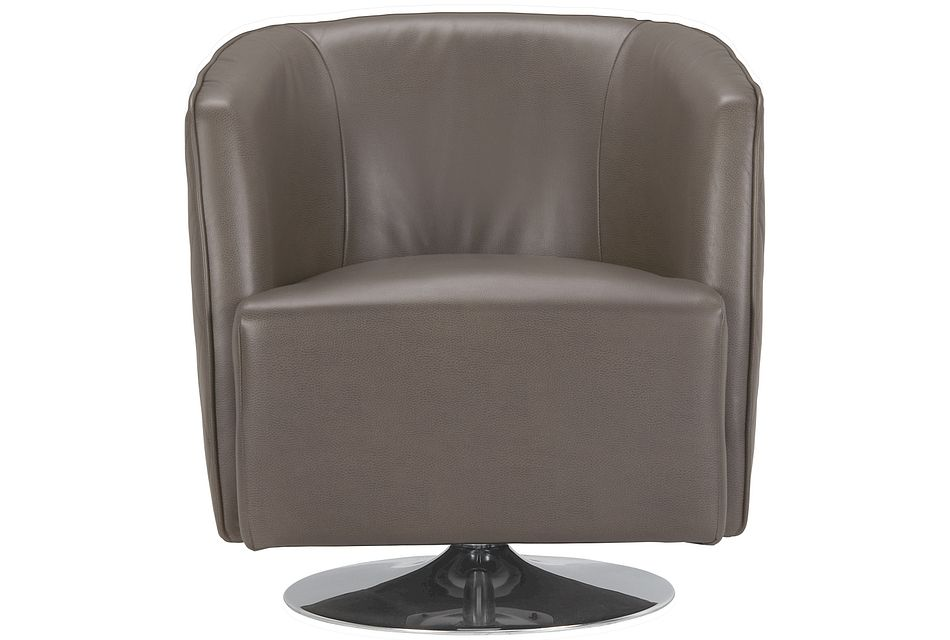Loki Dark Gray Micro Swivel Accent Chair