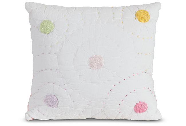 Dottie White Accent Pillow