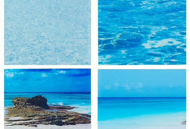 Seascapes Acrylic Set Of 4 Wall Art