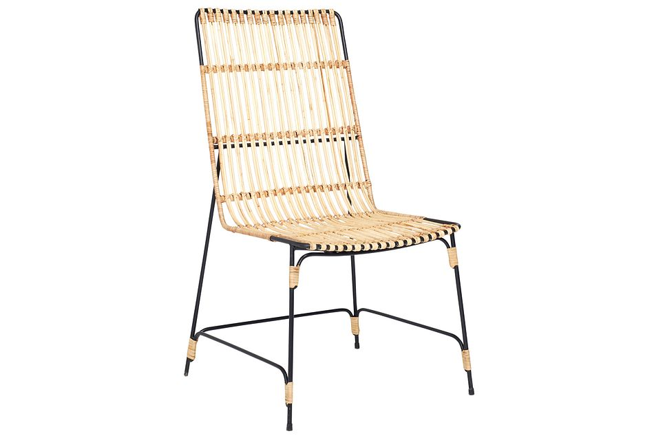 Entwine Light Tone Rattan Desk Chair