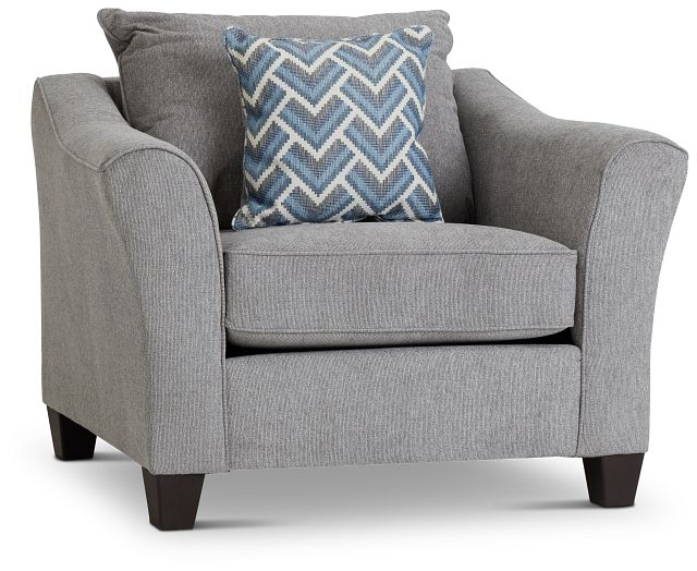Maggie Light Gray Fabric Chair (1)