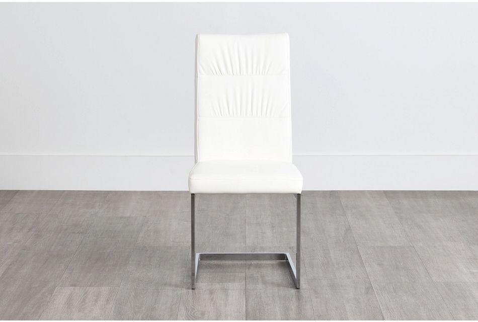 Bronx White Upholstered Side Chair,  (0)