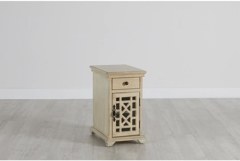 Alexis Ivory Small Cabinet,  (0)