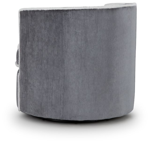 Fleur Dark Gray Fabric Swivel Chair