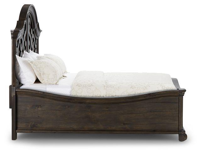Bellamy Dark Tone Arched Panel Bed (3)