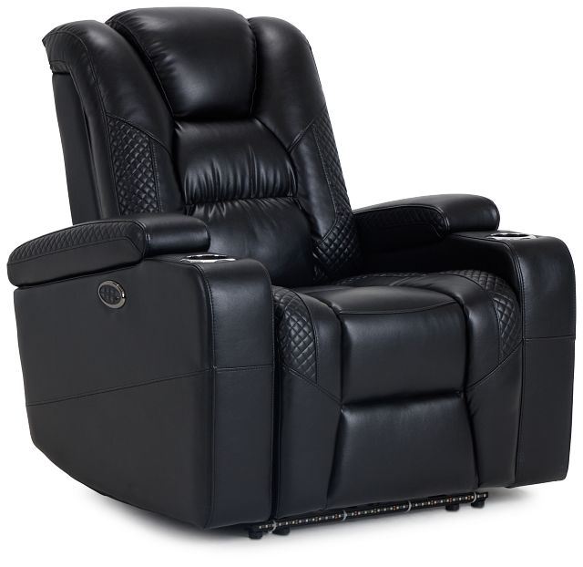 Troy Black Micro Power Recliner With Power Lumbar (1)