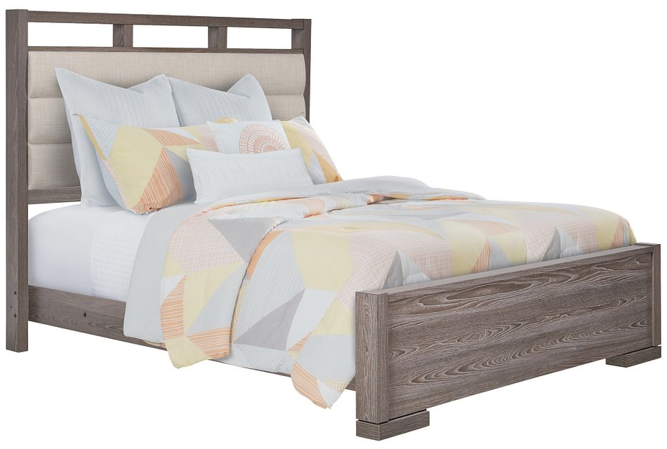 Sutton Light Tone Uph Panel Bed