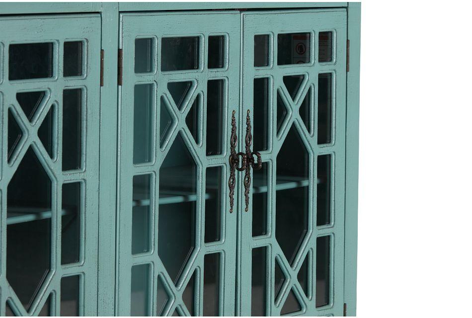 Alexis Teal Four-door Cabinet