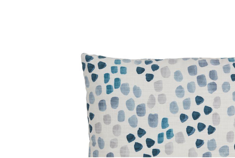 Pfeiffer Blue Fabric Lumbar Accent Pillow,  (2)