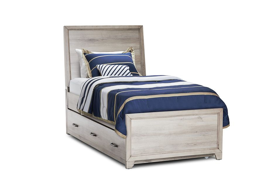 Rivercreek Gray Wood Panel Trundle Bed