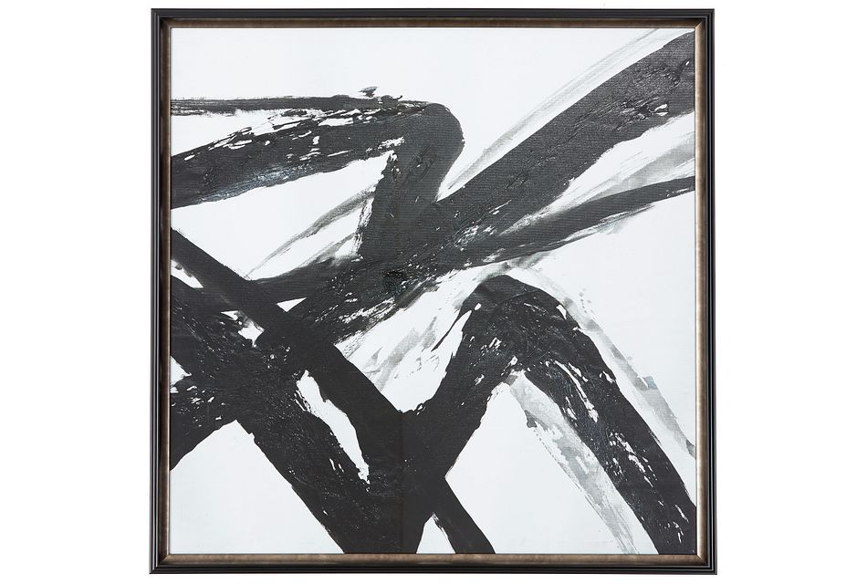 Abstact Black Framed Wall Art