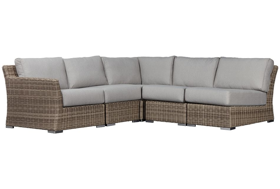Raleigh Gray Left 5-piece Modular Sectional