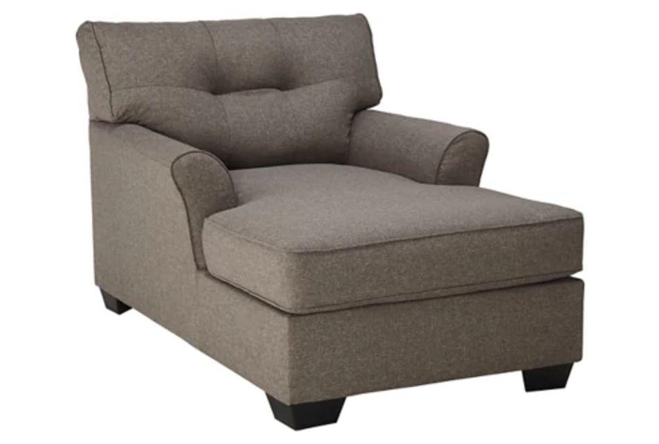 Laryn Dark Gray Micro Chaise,  (0)