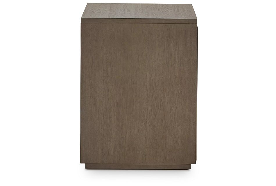 Highline Gray Open Cabinet