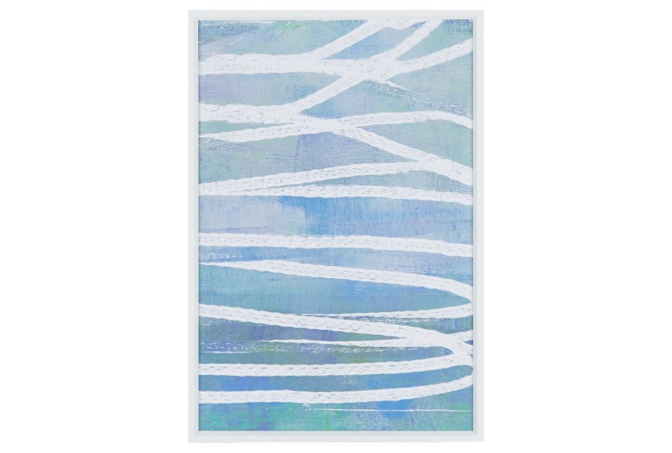 Waters Blue Framed Wall Art