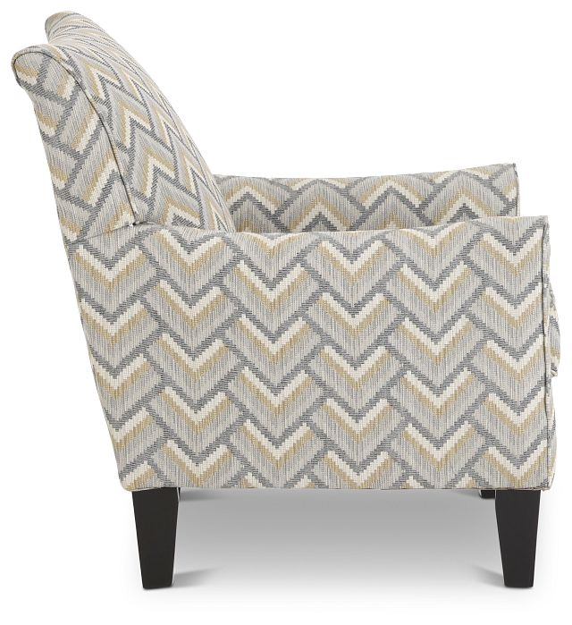 Maggie Dark Gray Multi Accent Chair (2)