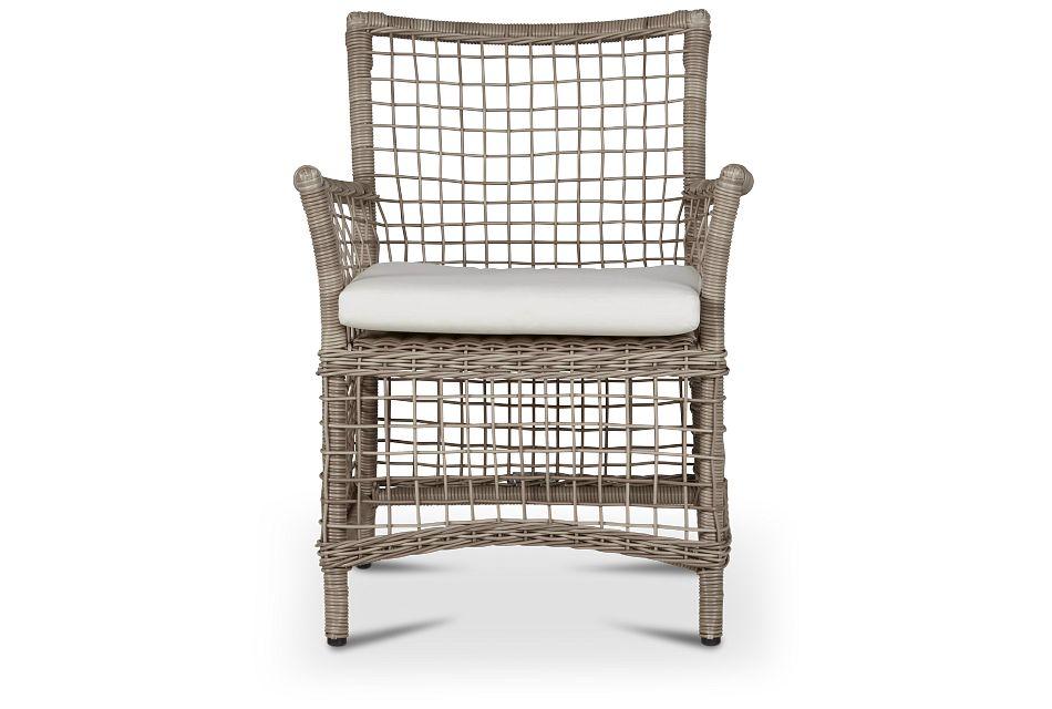 Raleigh White Woven Arm Chair,  (2)