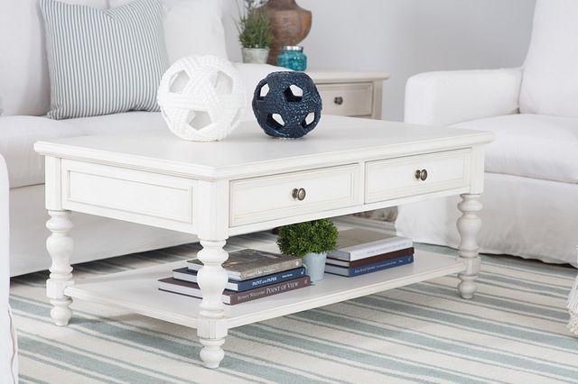Savannah Ivory Storage Rectangular Coffee Table (2)