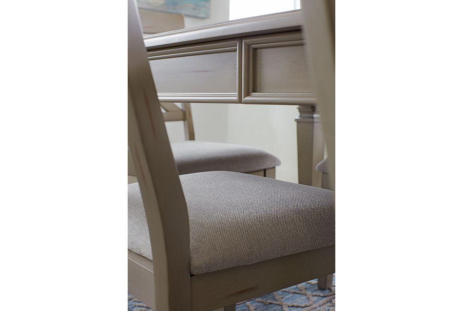 Marina GRAY  Table & 4 Wood Chairs,  (2)