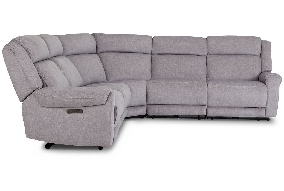 Beckett Gray Micro Small Two-Arm Power Reclining Sectional,  (2)