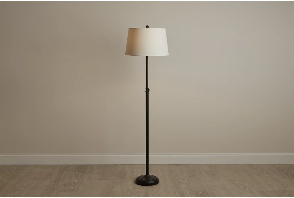 Maisie Black Metal Floor Lamp