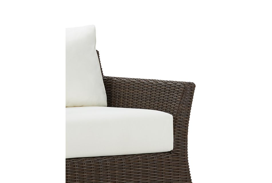 Southport White Swivel Chair