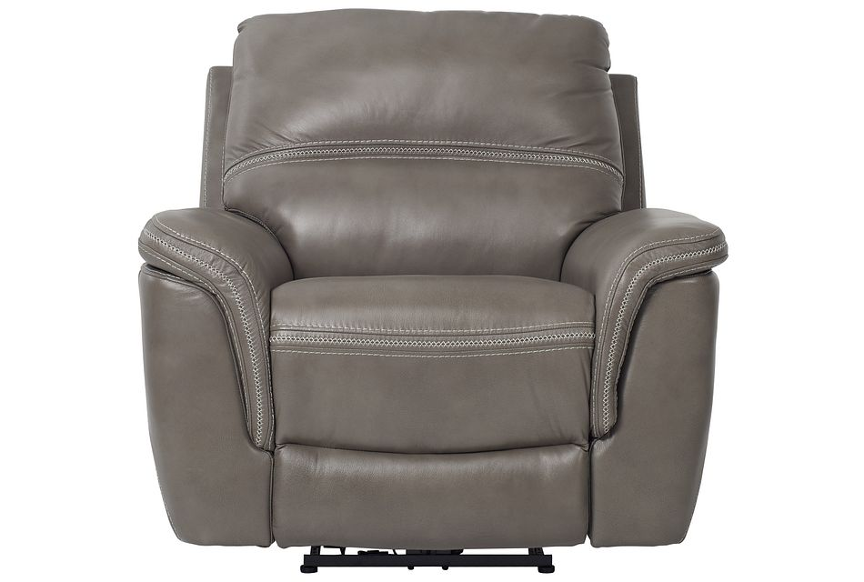 Bryson Dark Gray Lthr/vinyl Power Recliner
