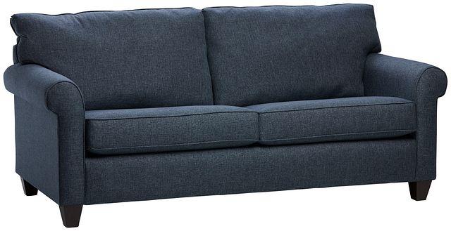 Cameron Blue Fabric Sofa (1)