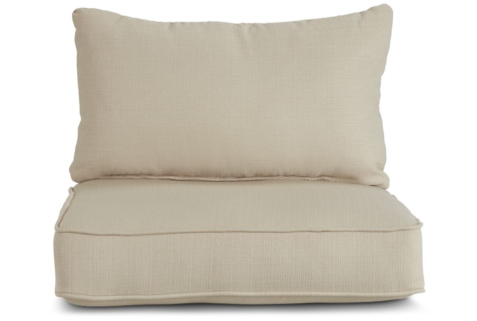 Reina Beige Fabric Accent Chair Cushion