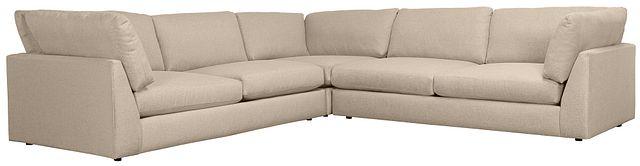 Harper Khaki Fabric Two-arm Sectional (0)