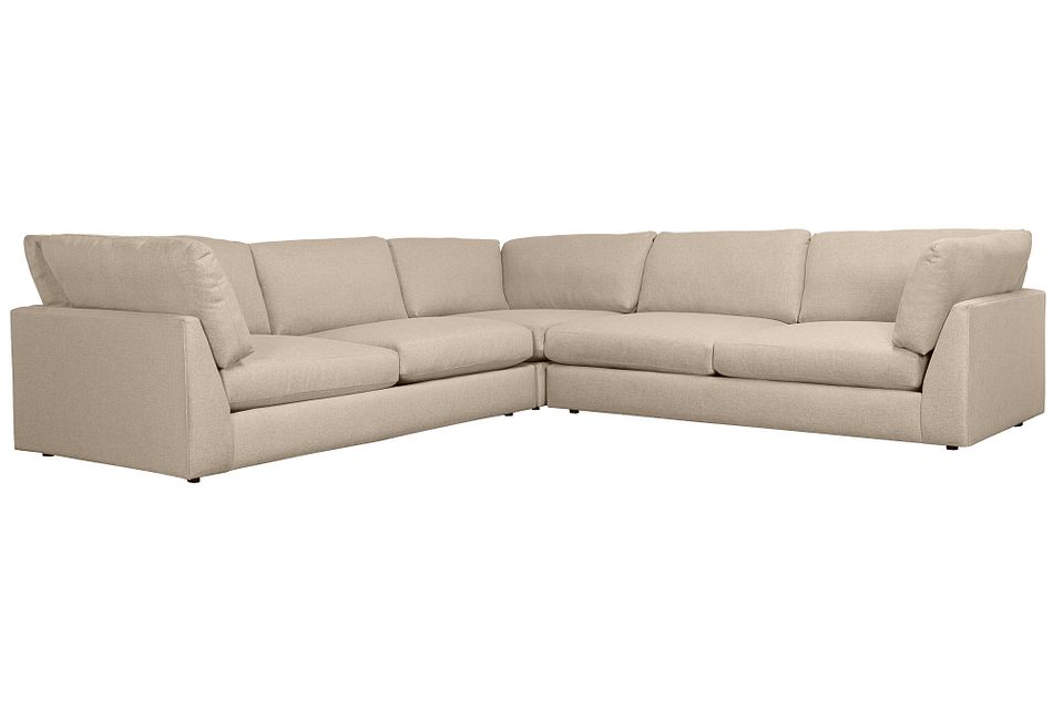Harper Khaki Fabric Two-arm Sectional