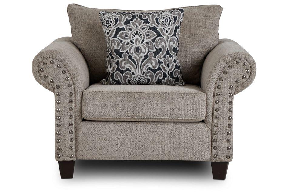 Adrian Light Gray Fabric Chair,  (3)