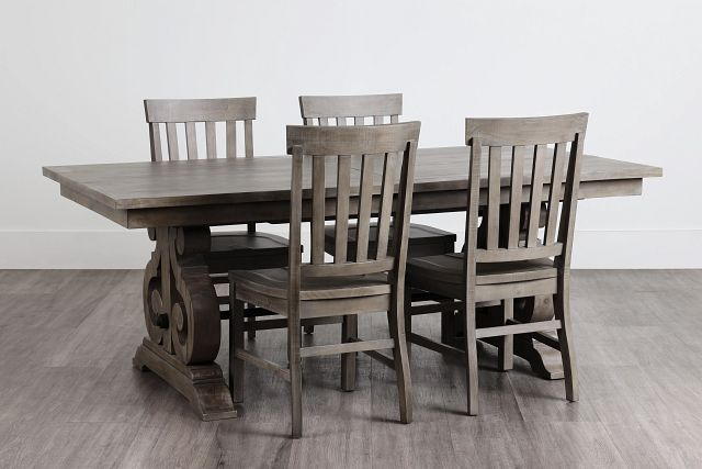 Sonoma Light Tone Trestle Table & 4 Wood Chairs (0)