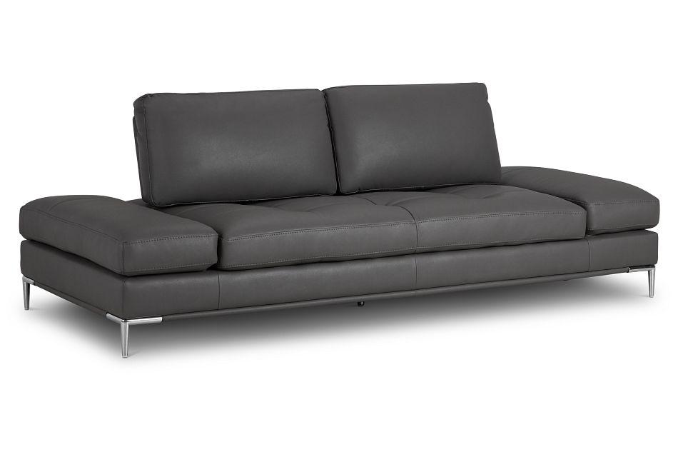 Camden Dark Gray Micro Sofa,  (2)