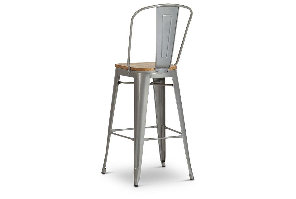 "Huntley Light Tone 30"" Wood Barstool"