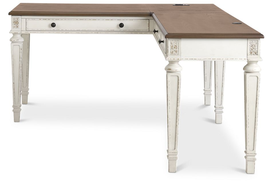Realyn2 Two-Tone Lift-Top Return Desk,  (1)